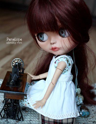 Custom Blythe with Sewing Machine