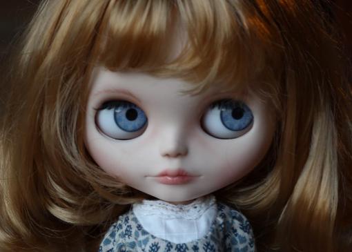 Custom Blythe Doll Blue Eyechips