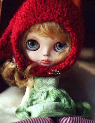 Custom Blythe Christmas doll Holly