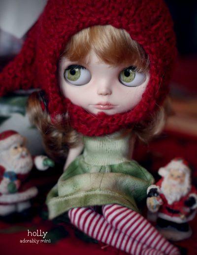Christmas Custom Blythe Holly