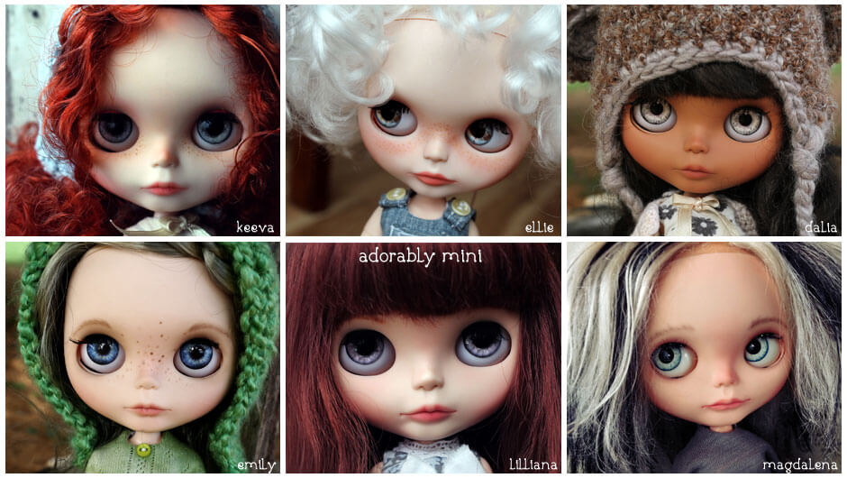 Blythe Dolls by Adorably Mini