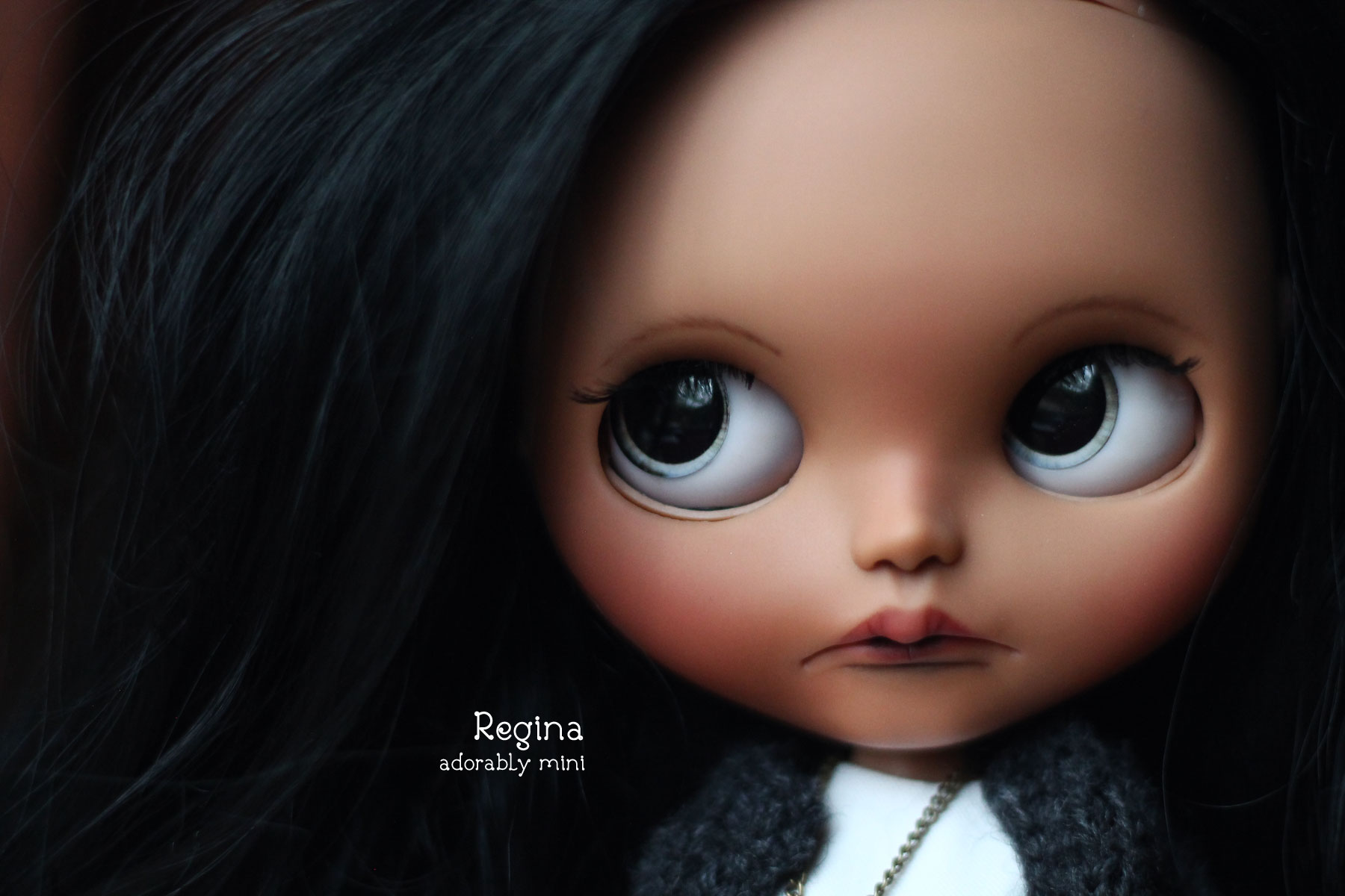 Pretty Custom Blythe Doll with sad face