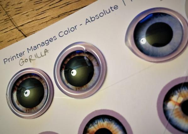 Eye Chips on Paper