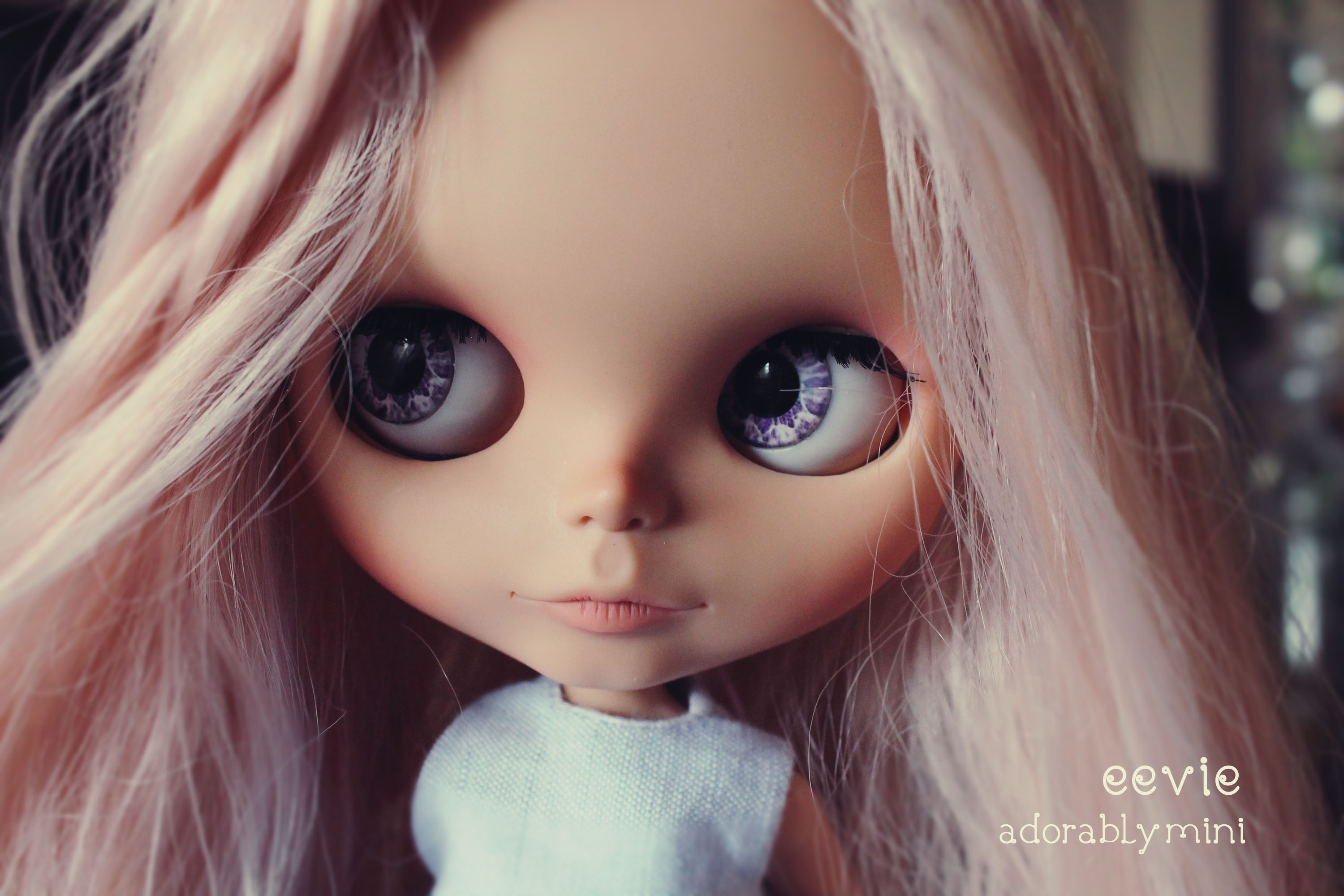 eevie custom blythe doll