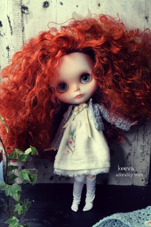 Custom Blythe Doll 19 Keeva Adorablymini Custom Blythe