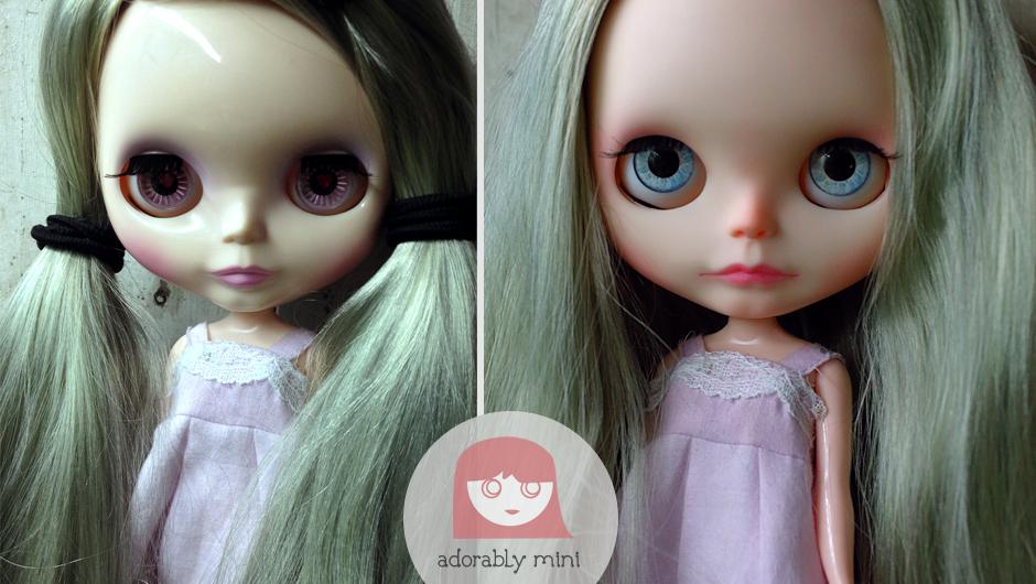 slide - steffie custom blythe doll